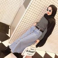 Rok Jeans BUTTON SKIRT Be/ROK PANJANG JEANS Murah/Rok Jeans Murah