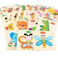 Puzzle Kayu Bayi Anak Mainan Bayi Anak Puzzle Edukasi Edukatif