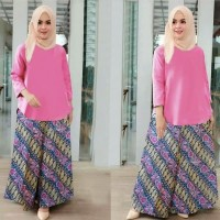 Setelan wanita muslim balotelly pink BEK1