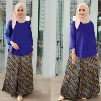 Setelan wanita muslim balotelly biru BEK1