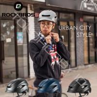 Helm Sepeda Rockbros Urban City Lapize Lipat Seli MTB Road Bike WT099 - Hitam