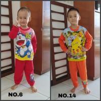 Baju tidur anak / setelan / piyama anak Doraemon dan Pokemon