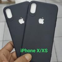 Case iPhone X/XS Logo Apple Bolong Dof Black Soft Case Slim