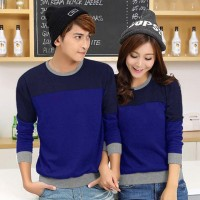 KAOS SWEATER COUPLE LENGAN PANJANG