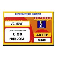 VOUCHER PAKET DATA INDOSAT FREEDOM INTERNET 8 GB ( VC VO ISAT 8GB )