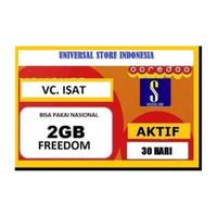 VOUCHER PAKET DATA INTERNET INDOSAT FREEDOM 2 GB ( VC ISAT 2GB )
