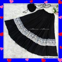 Rok Panjang Pesta Muslimah Cantik Aliza Umbrella Skirt Baloteli Renda