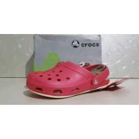 Sandal Crocs Tone- Fashion USA Size 34 sd 35 Mirror Original BARU