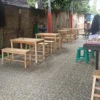 meja set resto restaurant cafe rumah makan bahan kayu jati belanda
