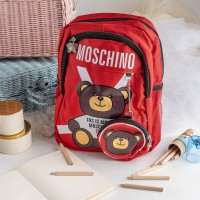 ARAMI Character Bear Moschino School Bags With Coin Pouch Tas Kanvas