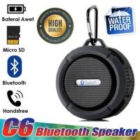 Speaker - Speker Bluetooth Portable C6 Waterproof (Anti Air) - Putih
