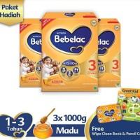 Bebelac 3 Madu [1000 g] + Free Pencil Box & Wipe Clean Book