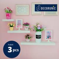 [Decorunic] Floating Shelf - Rak Dinding Minimalis ukuran 20,40,60 cm