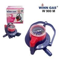 WINN GAS Regulator W-900 M Tekanan Rendah dengan Pengunci Ganda +Meter