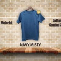 kaos polos navy misty