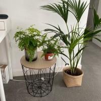 Bin Table / Coffee Table / Meja Besi dengan tempat penyimpanan. - Hitam