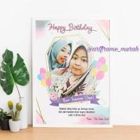 Art Frame Uk. 8R (hadiah wisuda,ulang tahun,wedding,newborn dll)