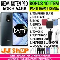 XIAOMI REDMI NOTE 9 PRO 6/64 RAM 6GB ROM 64GB GARANSI RESMI - GREY, BONUS 10 ITEM