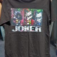 Kaos superhero DC comic marvel batman joker hitam