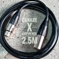 Custom Cable Kustom Canare x Amphenol - XLR M to XLR FM 2.5m ORIGINAL