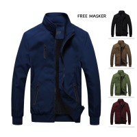 Jaket Parasut Polos Pria Ghost Reborn Mayer Waterproof Premium Casual - Hitam, S