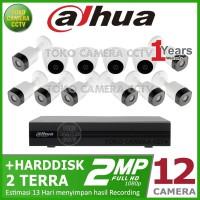 PAKET CCTV DAHUA 2MP 16 CHANNEL 12CAMERA HDD 2TB