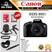 CANON EOS 800D KIT 18-55MM IS STM HARGA PROMO - KAMERA DSLR CANON WIFI