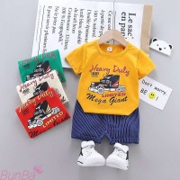 Setelan Baju Celana Bayi Laki-laki 0-2,5 Tahun Import Heavy Duty