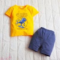 Setelan Baju Celana Bayi Laki-laki 0 - 2,5 tahun Import Super Wheel