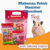 Hamsfood hamster & gerbil food makanan hamster 1KG 1000 gram