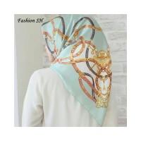 satin hijab Bunga Kerudung Jilbab Segi Empat Premium Square Motif L124
