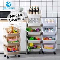 PROMO Rak dapur plastik - tempat penyimpanan sayur atau barang rumah