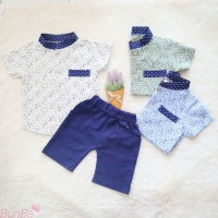 Setelan Baju Celana Bayi Laki-laki Kemeja Import 6 Bulan-4 Thn Tulisan