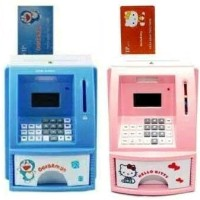 MAINAN EDUKATIF EDUKASI ANAK CELENGAN ATM BANK UANG TABUNGAN MINI