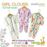 New !! TUTUP KAKI Velvet Junior DREAMWEAR 3 pcs Piyama Sleepsuit Bayi