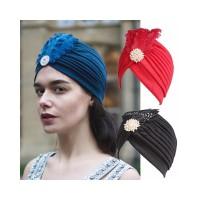 Topi Turban Gaya Retro Indian untuk Wanita