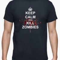 Kaos Keep Calm And Kill Zombies T-Shirt