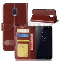 Flip Cover Samsung J7 Plus Leather Case Wallet Card Photo Frame