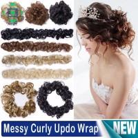 Hair Bun Extensions Wavy Curly Messy Long Scrunchie Chignons Hair