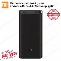TERLARIS Powerbank Xiaomi Mi 3 Pro 20000mAh 45W | Mi Power Bank PB