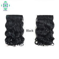Women Girls Fasion Long Curly Clip in Hair Extensions One Piece 24