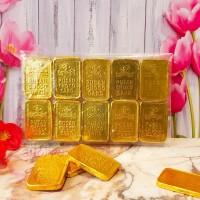 Coklat Batangan Kotak Emas Pusan / Pusan Choco Card