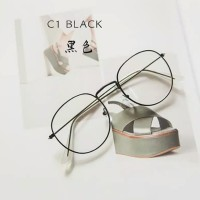 Kacamata ( Design Korea) Pria Wanita Gaya Retro Oval Round Metal Frame