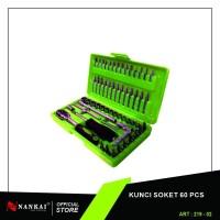 Perkakas Nankai Kunci Socket Set 60 pcs Kunci Sock Soket Shock Sok