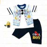 Setelan baju anak laki-laki motif Rompi CB