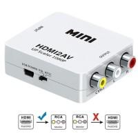 Converter HDMI Full HD To Video AV RCA Port Audio Ke Konverter LCD TV
