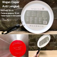 Frypan Kuali Ceper / Wajan Crepes / Crepe Maker 28 CM ANTI LENGKET