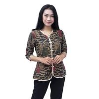 Batik Wanita Atasan Blouse Batik Modern Mega Mendung Size S - 5L JUMBO