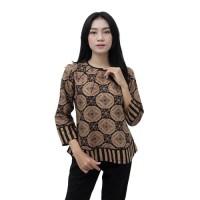 Batik Wanita Atasan Blouse Batik Modern Sogan JUMBO S -5L READY