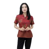 Blouse Batik Wanita Atasan Batik Modern Model Mandarin Size S - 5L BIG